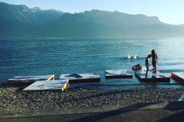 """""""Revelations"""" d'ECAL/Marvin Leuvrey, des images présentées sur le lac grâce à des plateformes conçues par les diplômés Bachelor en Design Industriel de l'ECAL Margaux de Giovannini, Maki Nakaya-Sommet et Mélanie Zufferey Photo © Festival Images Vevey 2016"""