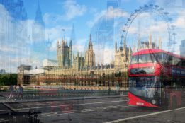 David Bramante, London, (Ruota su Bus e Westminster), 2015 © David Bramante