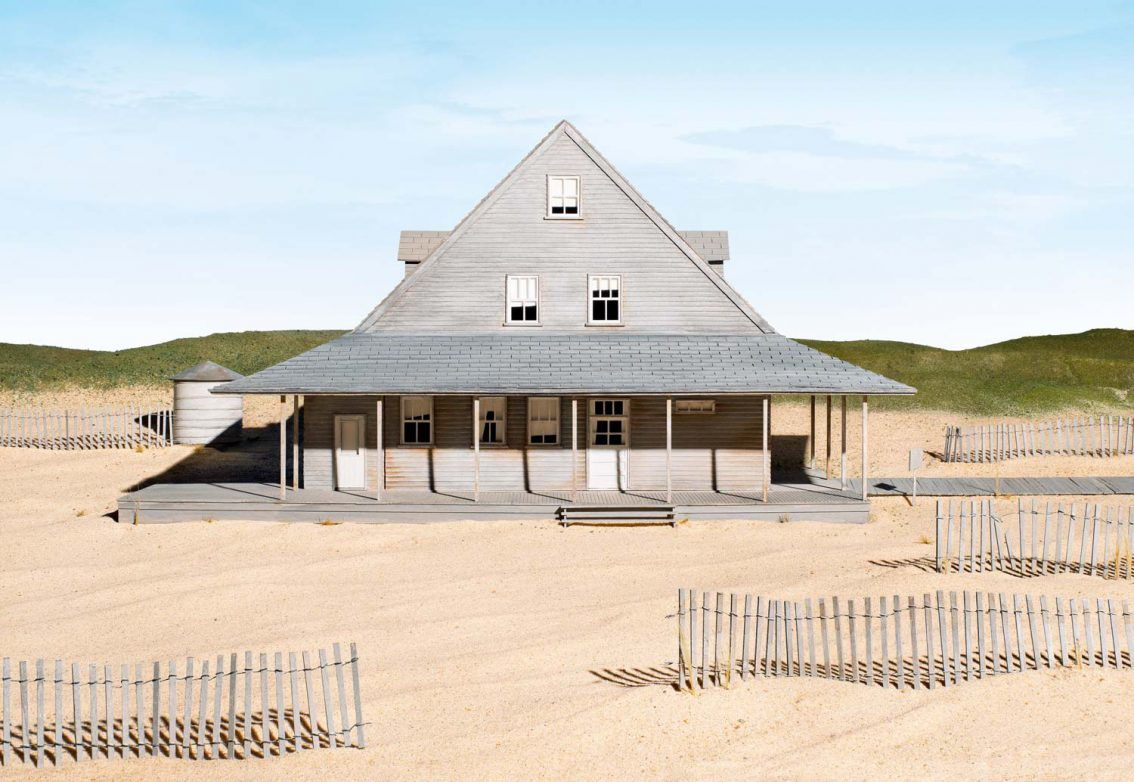 James Casebere, Caffey's Inlet Lifesaving Station (Dare County, NC), 2014 © James Casebere Courtesy: the artist and Galerie Daniel Templon, Paris and Brussels
