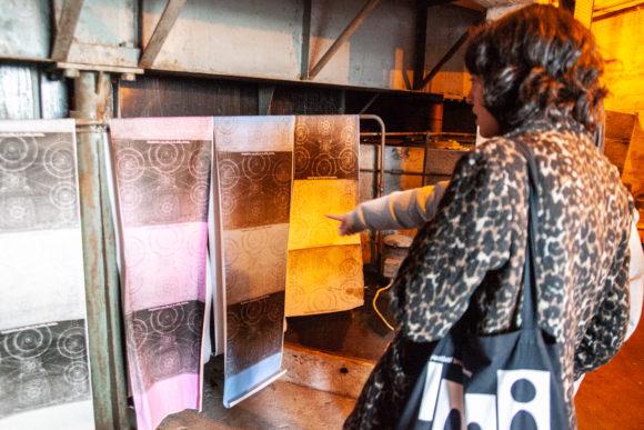 Antony Cairns exhibition in the basement of the Théâtre de Verdure ©Images Vevey / Diana Marti